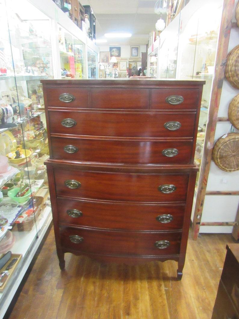 size 40 647f1 e038e Mahogany highboy dresser by Dixie