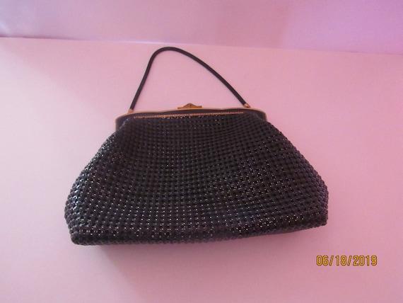 Black mesh purse