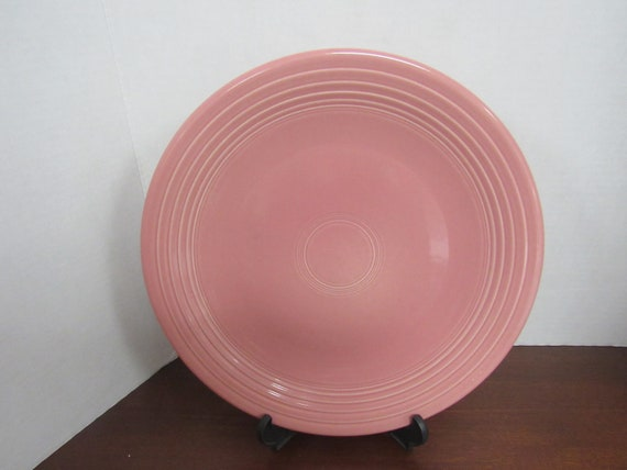 Pink Fiesta Round Chop Plate Serving Platter