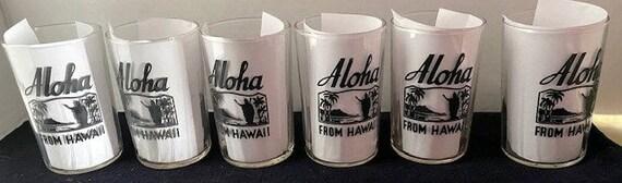 Six Hawaii Swanky Swig glasses