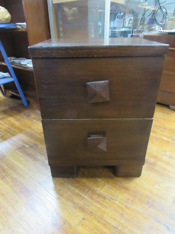Mid Century nightstand with two drawers