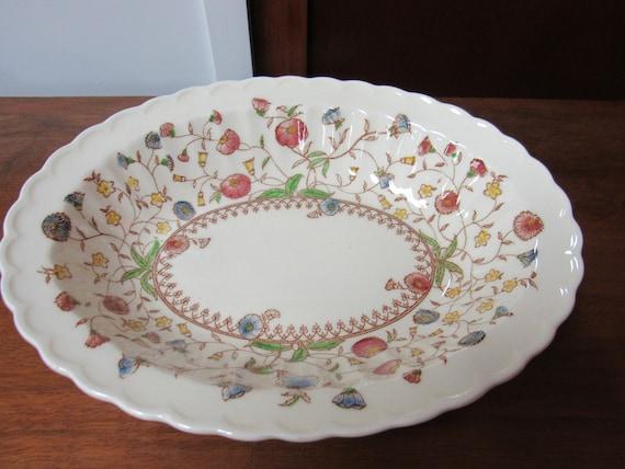 Vernon Kilns Desert Bloom Oval serving bowl