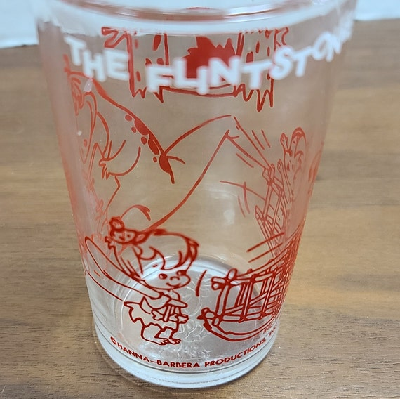 Flintstone's Pebbles juice glass
