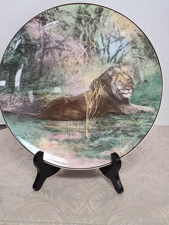 Vintage Royal Doulton African series Lion plate.