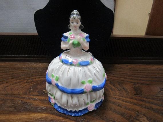 Vanity Jar Perfume bottle lady figure