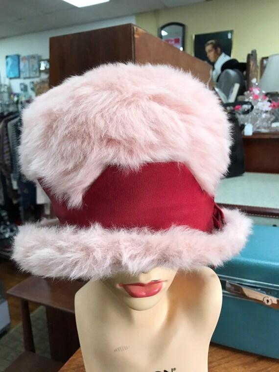 Jacques Heim pink fut hat