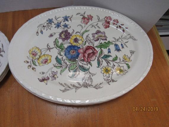 May Flower oval serving platters Vernon Kilns