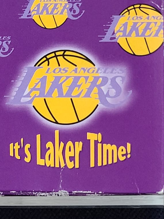 """Mcdonald's It's """"Laker Time""""  watch and box."""