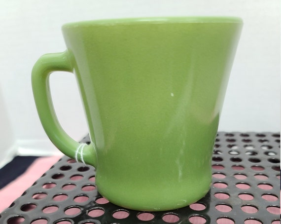 Fire King Avocado green mug