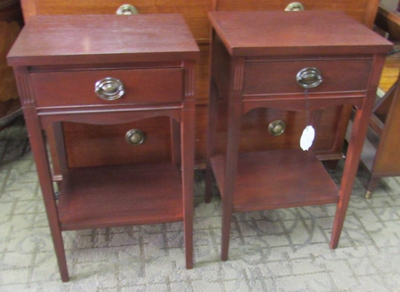 Pair of Mahogany night stands or end tables