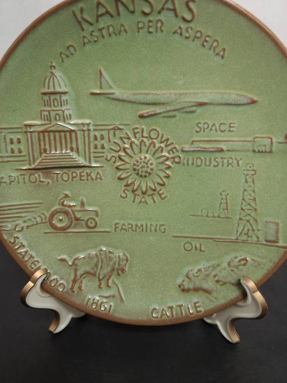 Frankoma Kansas Plate