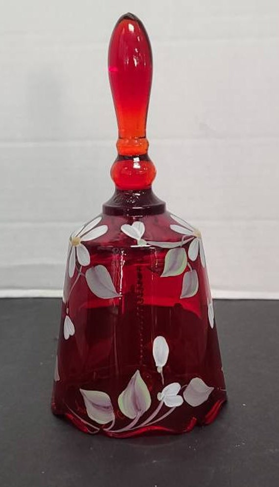 Fenton ruby glass bell