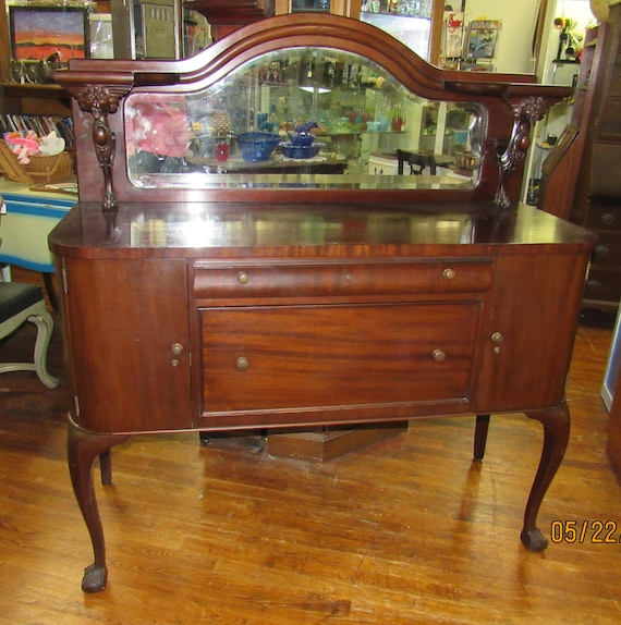 Sideboard or buffet with mirror
