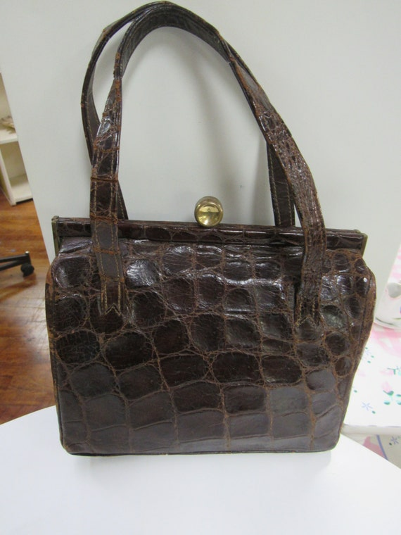 Brown Alligator Purse