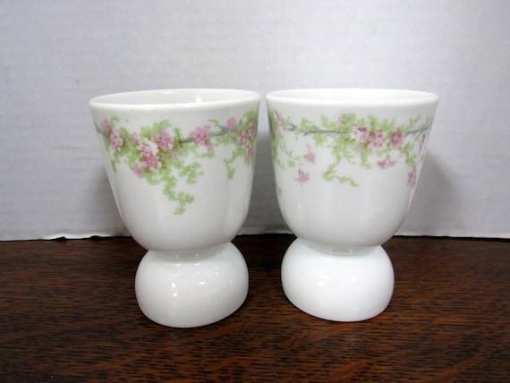 2 Egg Cups Haviland Limoges