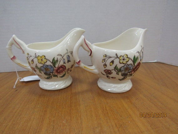 May Flower creamers by Vernon Kilns