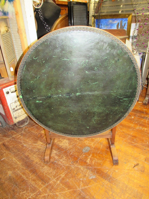 Antique Tilt Game Table