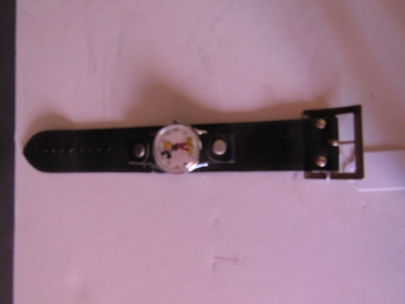 Mickey Mouse Watch with thick black band