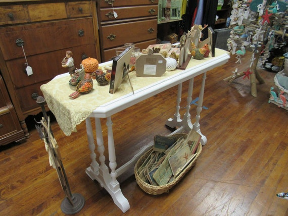 Sofa table painted white
