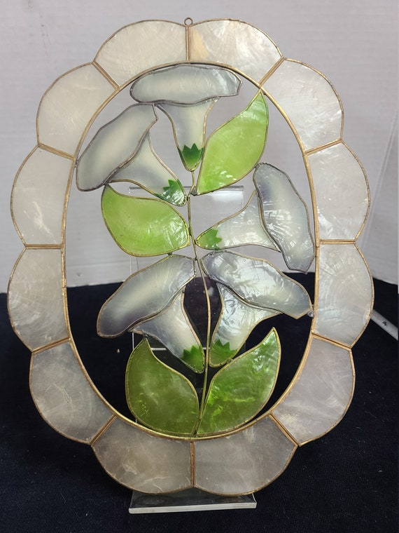 Abalone flower wall hanging.