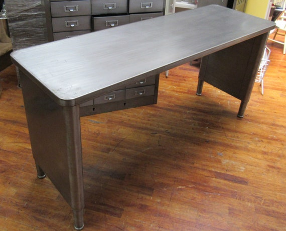 Industrial console table adjustable
