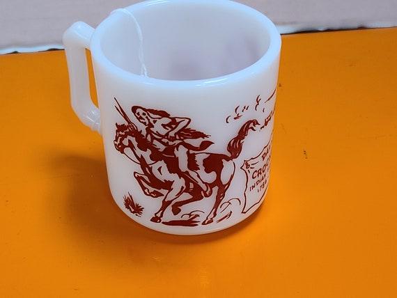 Davy Crockett mug Hazel Atlas