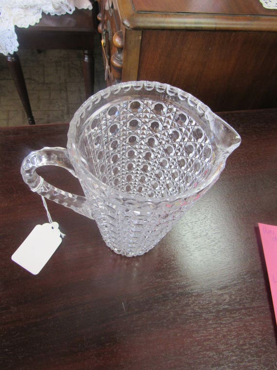 Cut glass pitcher