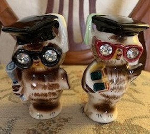 Lefton Owl Salt & Pepper Shakers
