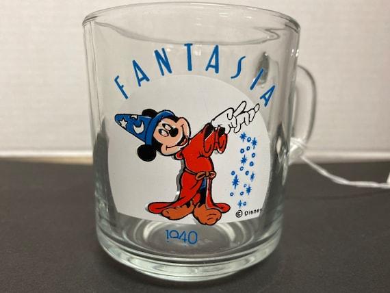 1940s Anchor Hocking Disney Mickey Mouse Fantasia Glass Mug