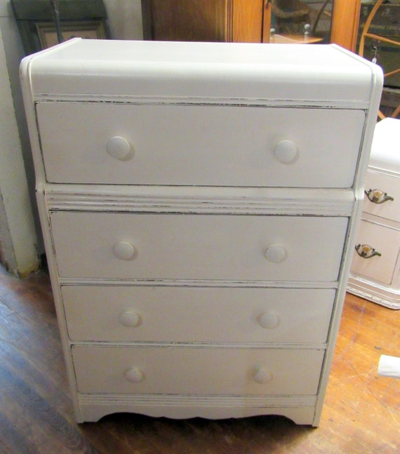 White waterfall dresser shabby chic