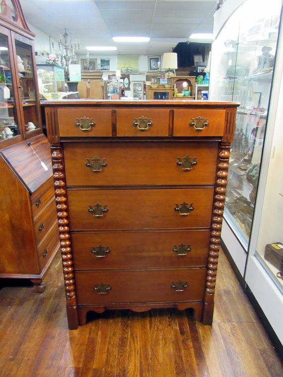 Cherry Wood highboy Dresser