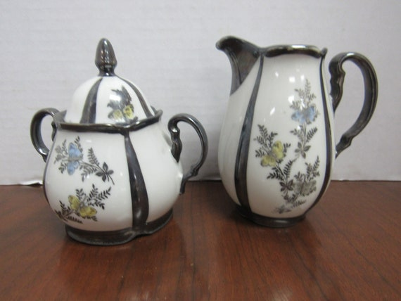 Bavarian china sugar and creamer