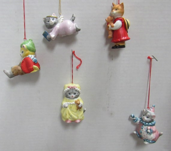 Cat Christmas ornaments by Schmidt Miss Cucumber