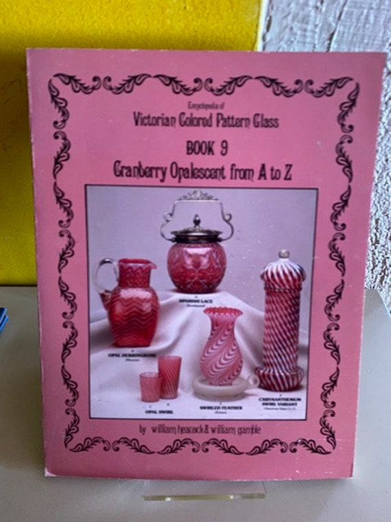 Antique reference book Cranberry Opalescent Pattern Glass