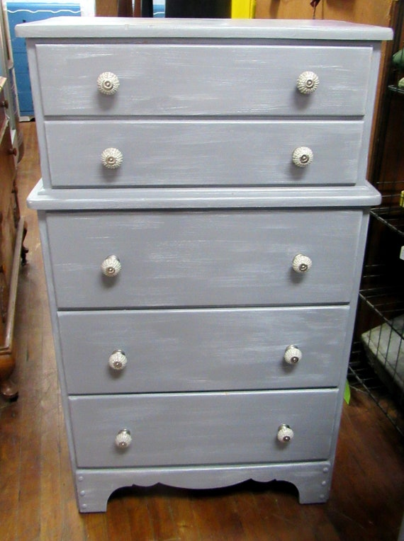 Vintage Gray Dresser