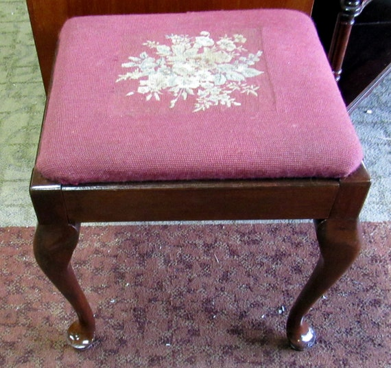 Small Tapestry bench or stool