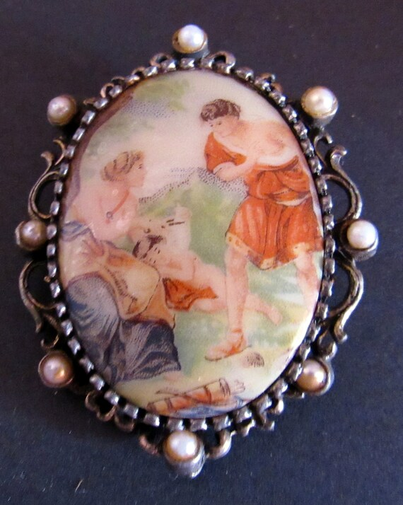 Victorian courting brooch