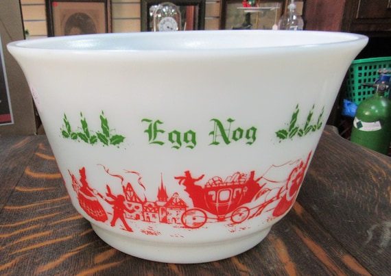 Eggnog Punchbowl Currier and Ives