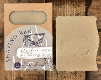 Cedarwood and Clary Sage Shaving Bar