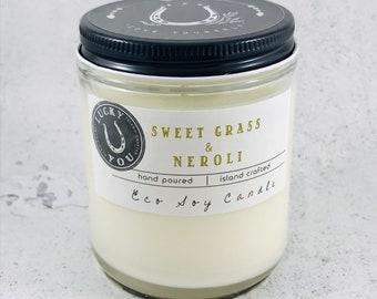 Sweet Grass & Neroli  Eco Soy Vegan Candle