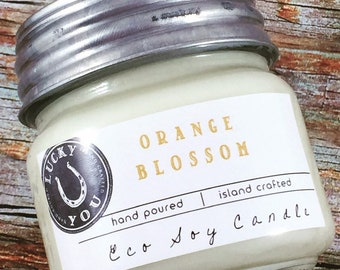 Orange Blossom Eco Soy Vegan Candle