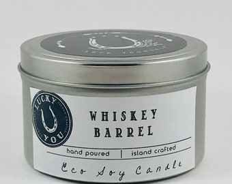 Whiskey Barrel Eco Soy Vegan Candle