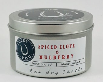 SALE **** Spiced Clove & Mulberry Eco Soy Vegan Candle