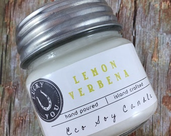 Lemon Verbena Eco Soy Vegan Candle