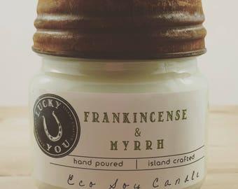 Frankincense & Myrrh Eco Soy Vegan Candle