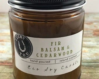 Fir Balsam & Cedarwood Eco Soy Vegan Candle