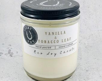 Vanilla & Tobacco Leaf  Eco Soy Vegan Candle