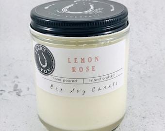 Lemon Rose  Eco Soy  Candle
