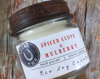 Spiced Clove & Mulberry Eco Soy Vegan Candle