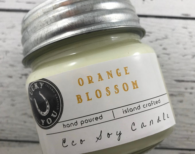 Featured listing image: Orange Blossom Eco Soy Vegan Candle